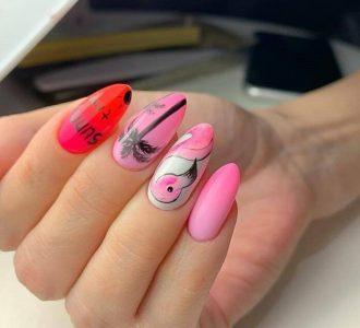 Красивый розовый маникюр (фото): новинки дизайна и варианты нежного оформления ногтей